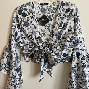 NWT Crop Top and High Waisted Floral Set Sz 6